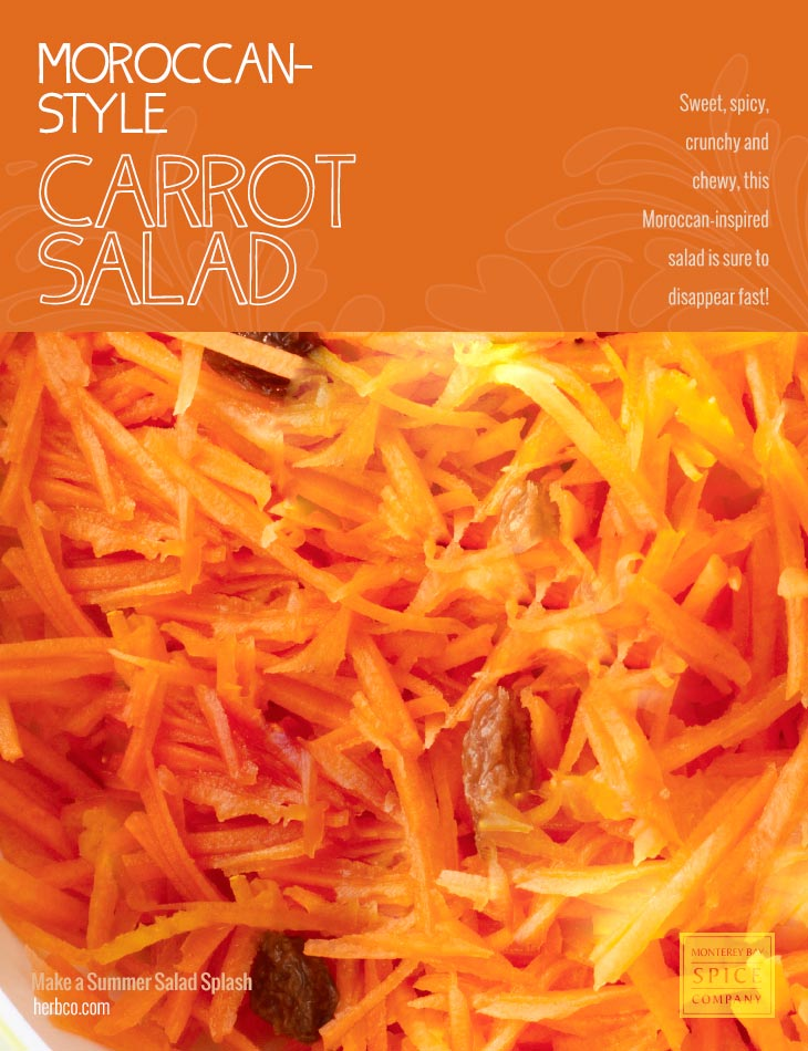 [ Recipe: Moroccan-Style Carrot Salad ] ~ from Monterey Bay Spice Co