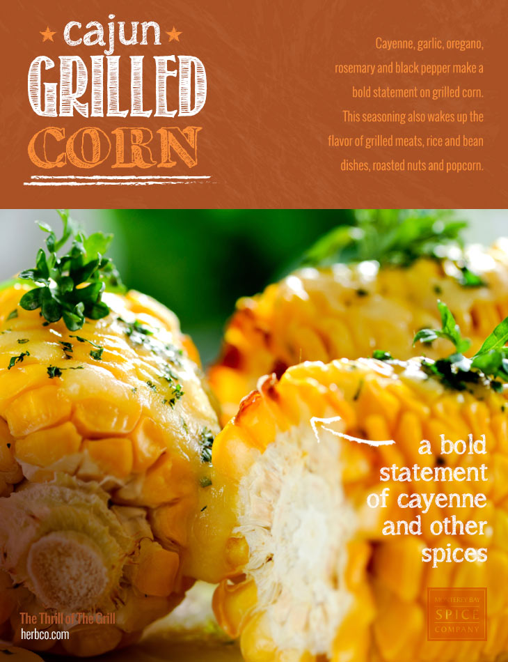 [ Recipe: Cajun Grilled Corn ] ~ from Monterey Bay Spice Co