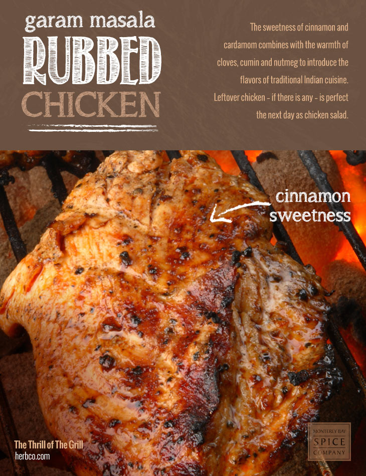 [ Recipe: Garam Masala Rubbed Chicken ] ~ from Monterey Bay Spice Co