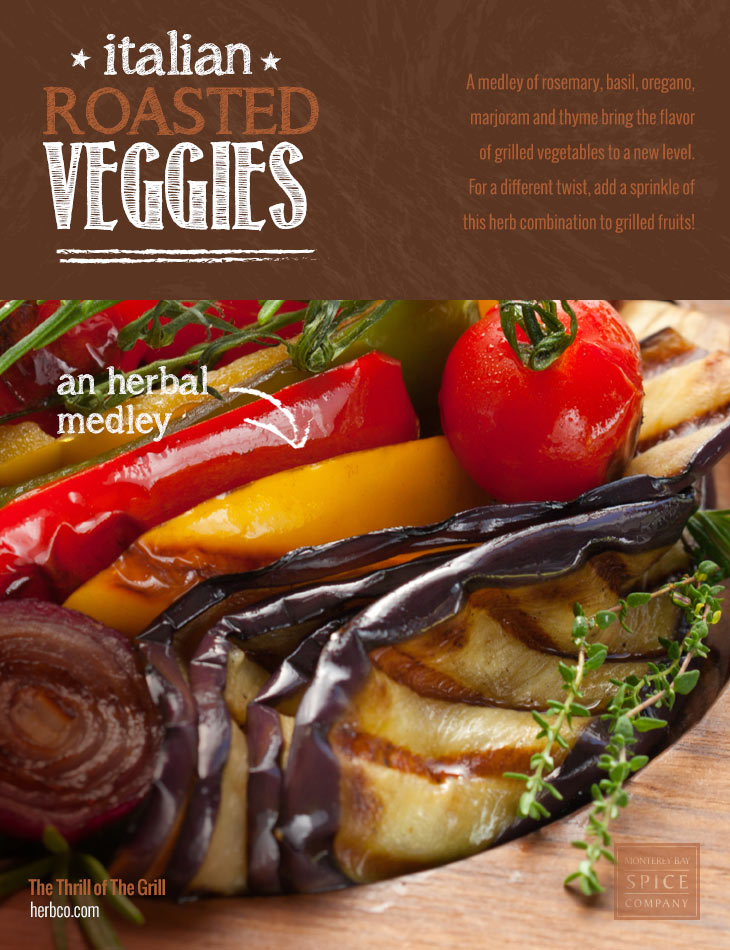 [ Recipe: Italian Roasted Veggies ] ~ from Monterey Bay Spice Co