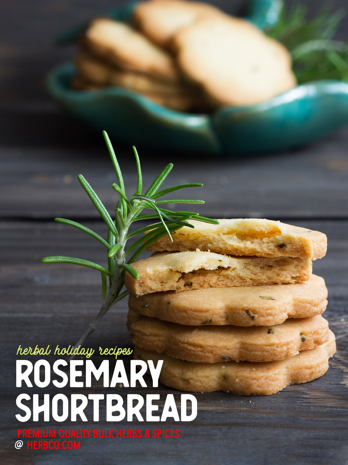 [ Recipe: Rosemary Shortbread ] ~ from Monterey Bay Spice Co