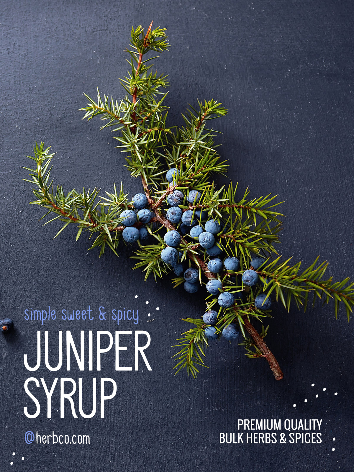 [ Recipe: Simple Sweet & Spicy Juniper Syrup ] ~ from Monterey Bay Spice Co
