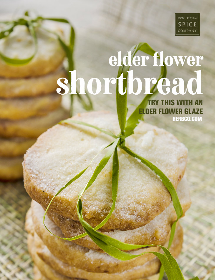 [ Recipe: Elder Flower Shortbread ] ~ from Monterey Bay Spice Co