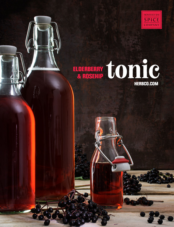 [ Recipe: Elderberry & Rosehips Winter Tonic ] ~ from Monterey Bay Spice Co