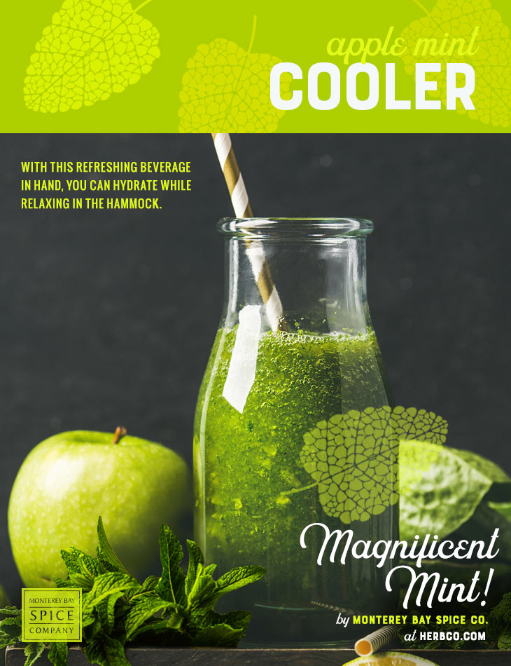 [ Recipe: Apple Mint Cooler ] ~ from Monterey Bay Spice Co