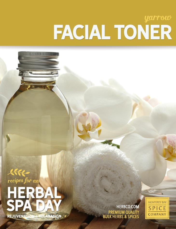 [ Recipe: DIY yarrow facial toner ] ~ from Monterey Bay Spice Co