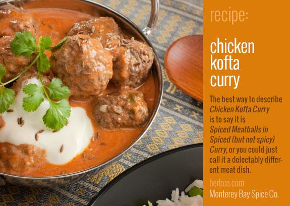 Monterey Bay Spice Co Indian Spices Chicken Kofta Curry