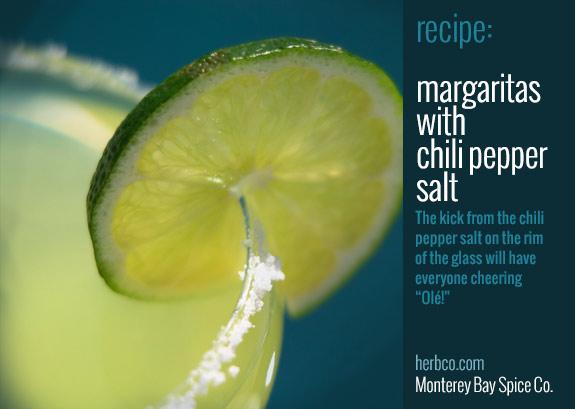 Margaritas with Chili Pepper Salt Recipe